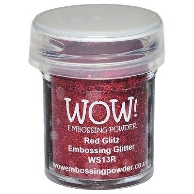 WOW! Embossing Powder Ultra High 15ml Red Glitz Embossing Glitter - comprar online