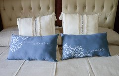 Almohadones con estampa blanco