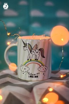 Taza I believe in Unicorn