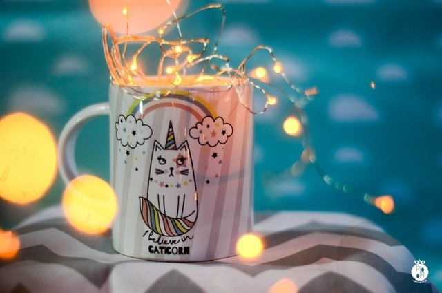 Taza I Believe in Caticorn - piopio-objetos