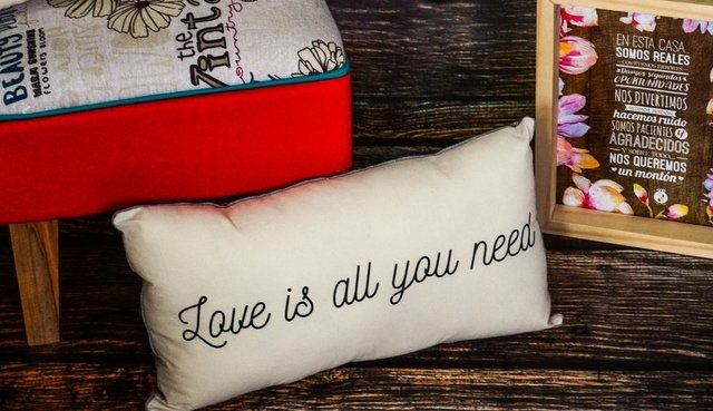 Almohadones dobles All you need is love - tienda online
