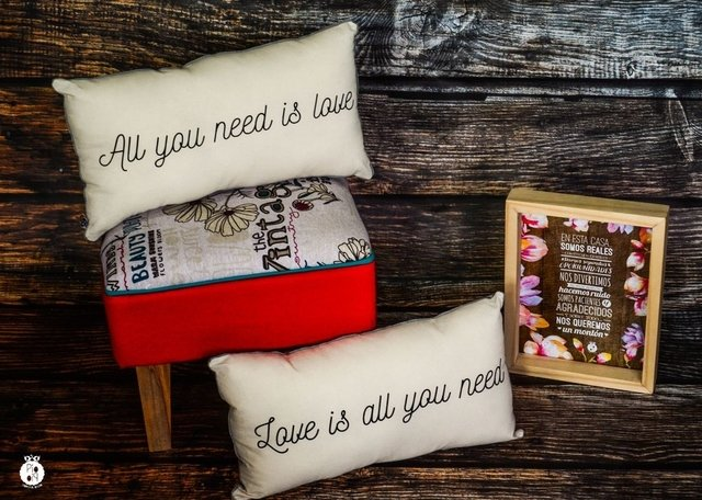 Almohadones dobles All you need is love - comprar online