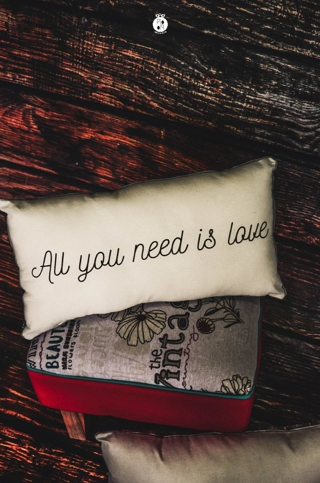 Almohadones dobles All you need is love - piopio-objetos