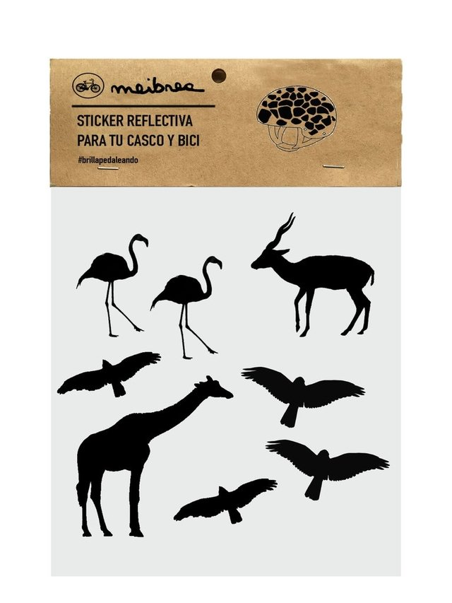 STICKER DECORATIVA QUE BRILLA EN LA OSCURIDAD / BLACK ANIMAL KINGDOM