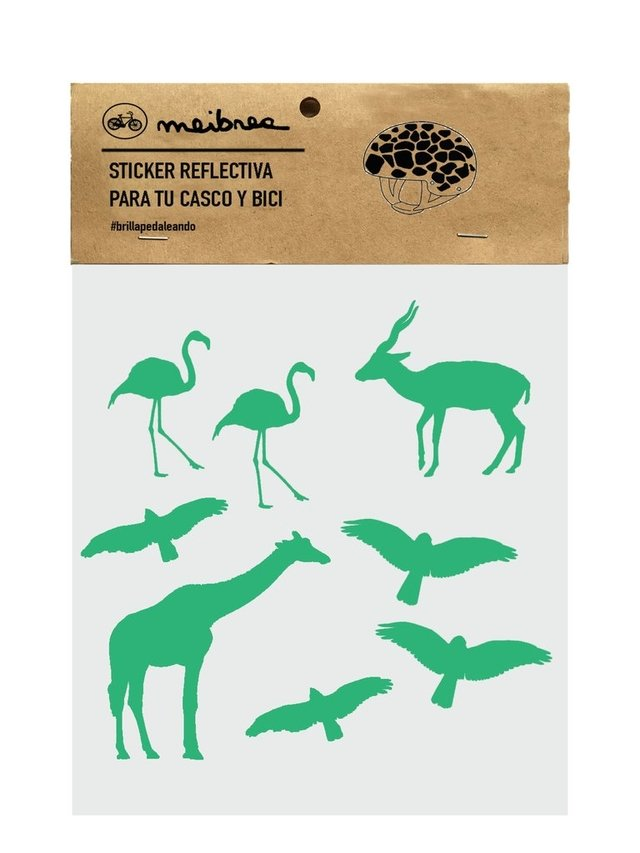 STICKER DECORATIVA QUE BRILLA EN LA OSCURIDAD / GREEN ANIMAL KINGDOM