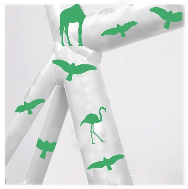 STICKER DECORATIVA QUE BRILLA EN LA OSCURIDAD / GREEN ANIMAL KINGDOM - comprar online