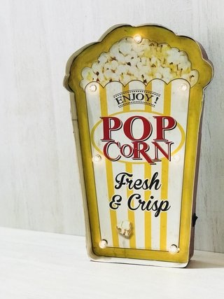 Cartel Luminoso Pop Corn