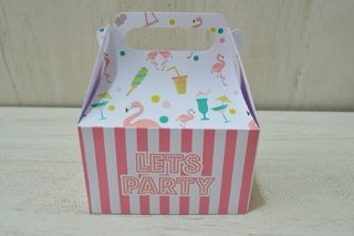 Caja manijas grandes Flamingo Party x 10u.