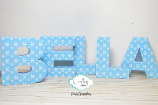 Letras papel 3D - Crafting Hour