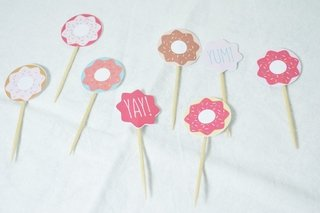 Cupcake Toppers Donuts x12u. - comprar online