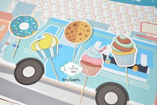 Cupcake Toppers Cupcakes x 12u.