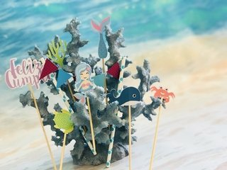 CAKE TOPPER AN OCEAN ADVENTURE