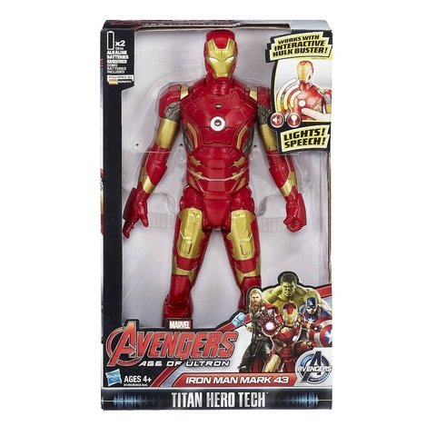 Avengers Iron Man Mark 43 Titan Hero Tech A Era De Ultron Hasbro