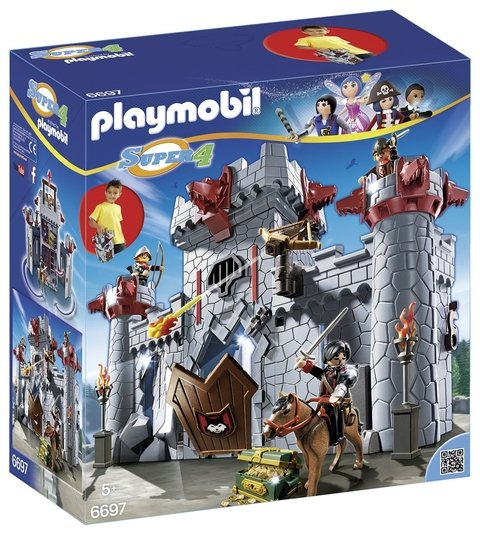 Playmobil 6697 Super 4 Castelo Do Barão Negro