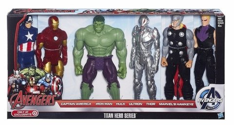 Avengers Marvel Titan Hero Series Com 06 Personagens