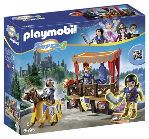 Playmobil 6695 Super 4 Tribuna Real Com Alex