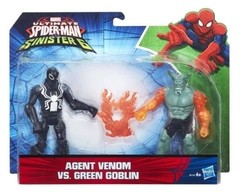 Boneco Marvel Spider Man Agent Venom Vs Green Goblin 15 Cm