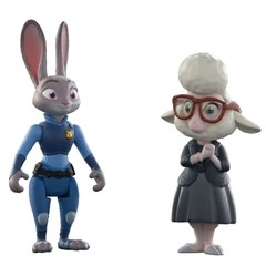 Zootopia Disney Personagens Judy Hopps & May Bellwether