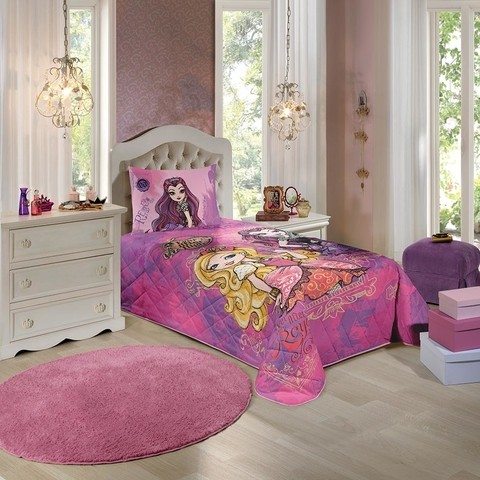 Colcha Matelassê Ever After High Solteiro + Fronha Lepper