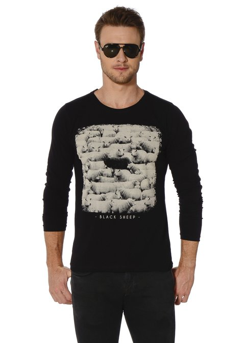 Camiseta Manga Longa Black Sheep