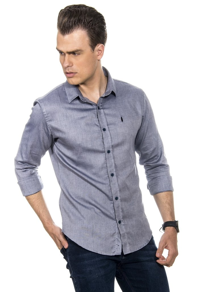 Camisa Masculina Blue Denim Camisa Masculina Blue Denim - comprar online ... 8b0584e9e28