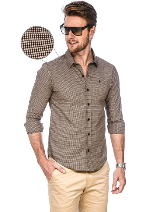 Camisa Masculina Color Chess