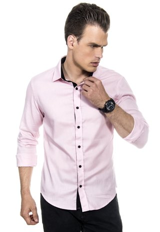 Camisa Masculina Light Pink na internet