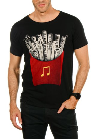 Camiseta Fed By Music