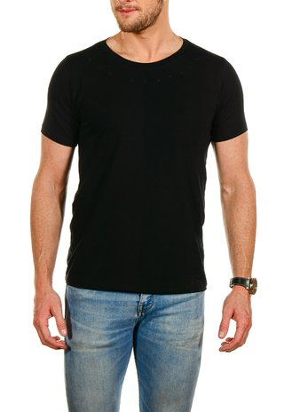 Camiseta Feather Gola Preta