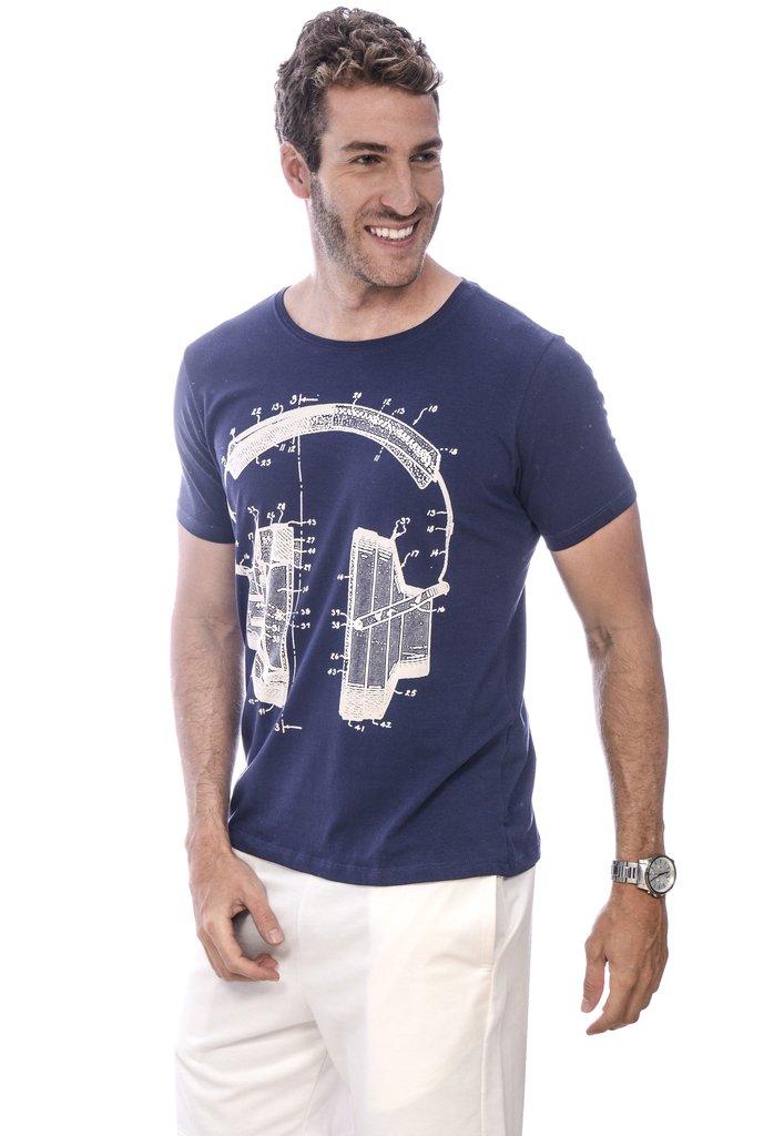 04e929c46c Camiseta Masculina Music Print Camiseta Masculina Music Print - comprar  online ...