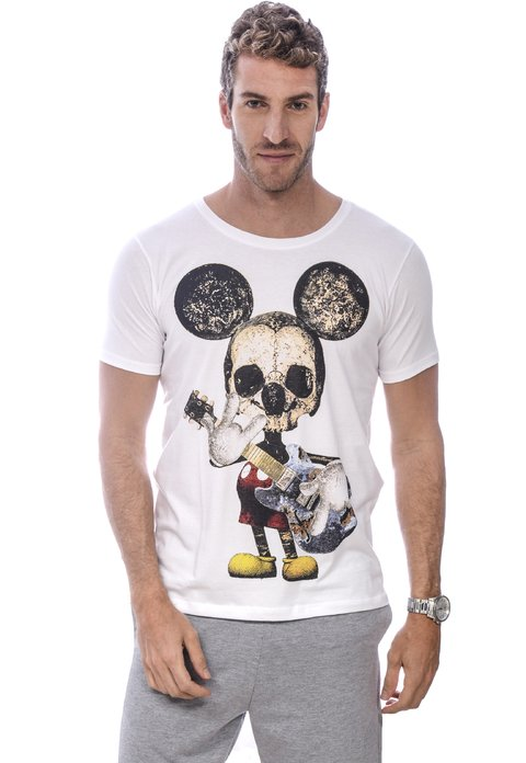 Camiseta Masculina Mickey Rocks
