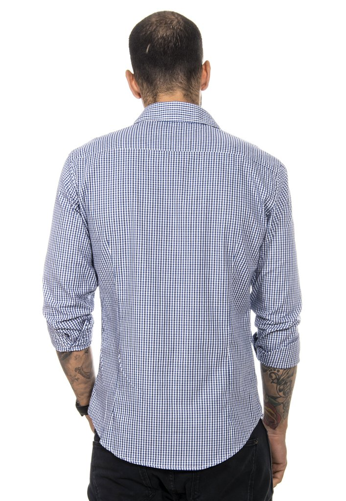 Camisa Masculina Xadrez Fino - Red Feather Atacado accd88733551f