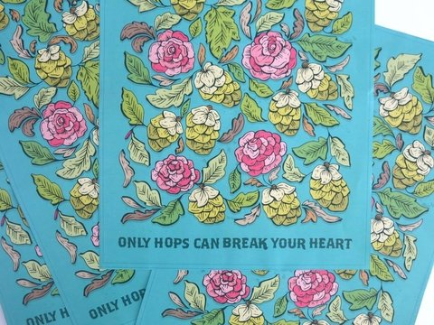 Poster - Only Hops Can Break Your Heart - Only Hops Can break your heart