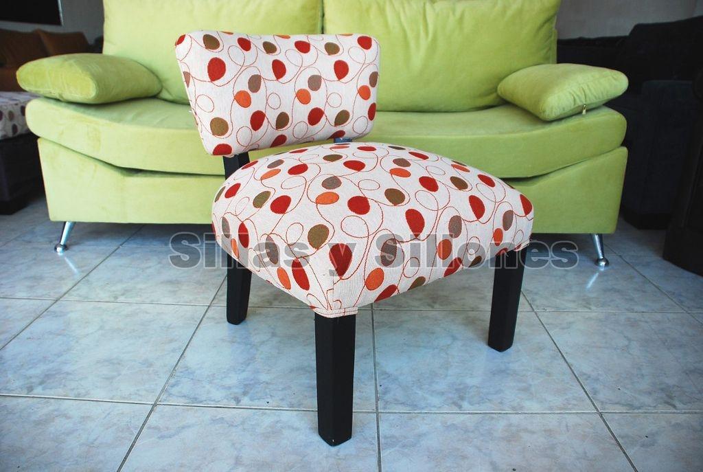 Sillas Materas Poltronas sillon bajo tapizado tela chenille (copia)