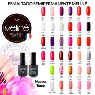 Esmaltes Semipermanentes Meliné Uv Combo Base/top +3 Colores - comprar online