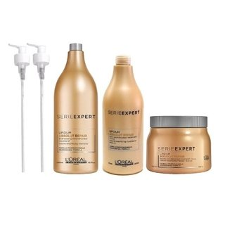 Kit Loreal Absolut Repair Shampoo Enjuague Y Baño De Crema