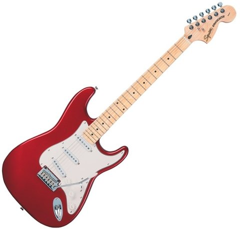 Squier 032-1602-509 - Stratocaster Standard Candy Apple Red