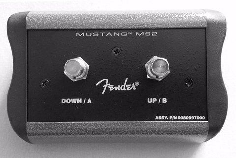 Fender 008-0997-000 - Mustang Ms2 - Pedal 2 Botones P/ Mustang Iii; Iv Y V