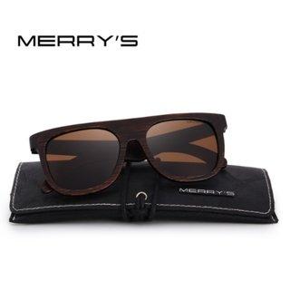 94489f77d73d4 Merry s  7920 Óculos De Sol Masculino Unissex Madeira Polarizado Uv