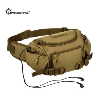 Protector Plus* 0121 Pochete Masculina Canvas Lona Militar Tactical