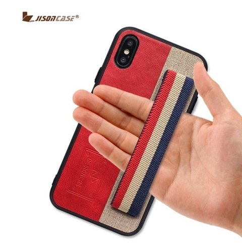 Jisoncase* 4644 Capa iPhone Couro Silicone Palm