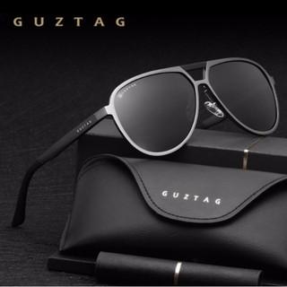 eca2e1d6b Guztag* G9820 Óculos De Sol Masculino Piloto Alumínio Polarizado