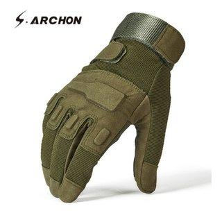 d2a0e9dc81 Archon  2209 Luva Masculina Couro e Spandex S.W.A.T. Force Style