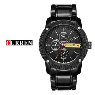 83ff3ec0fac Curren  8069 Relógio Masculino Aço Inox Data Automática