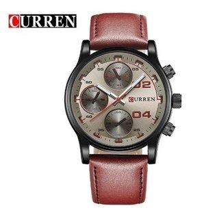 90c12cb3d4f Megir  2023 Relógio Masculino Couro Genuíno Cronógrafo Data Automática.  R 123