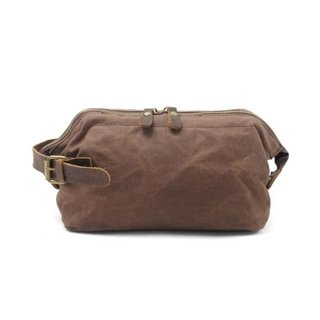 2107 Necessaire Masculina Couro Canvas (Lona Militar) - Simple Market
