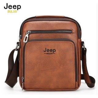 b1248f4558 Jeep Buluo* A8-2 Bolsa Masculina Transversal Couro