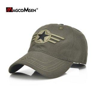 4b93c0f2c8 MagcoMsen® 9667 Boné Masculino 100% Algodão ARMY STAR