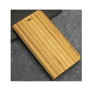 Yf-Wood* 9306 Capa iPhone Flip Madeira Bamboo Natural