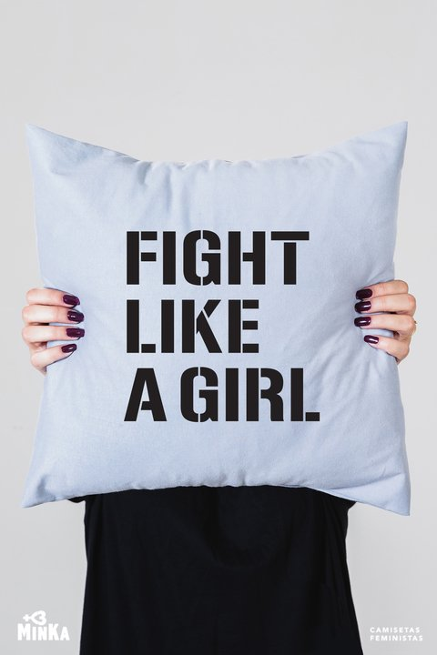 Capa de Almofada Fight Like a Girl - MinKa Camisetas